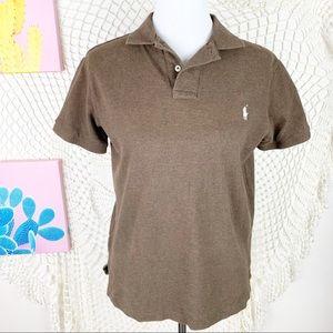 Polo Ralph Lauren Brown Short Sleeve Polo Medium